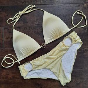 Victoria's Secret Yellow String Bikini Size Medium